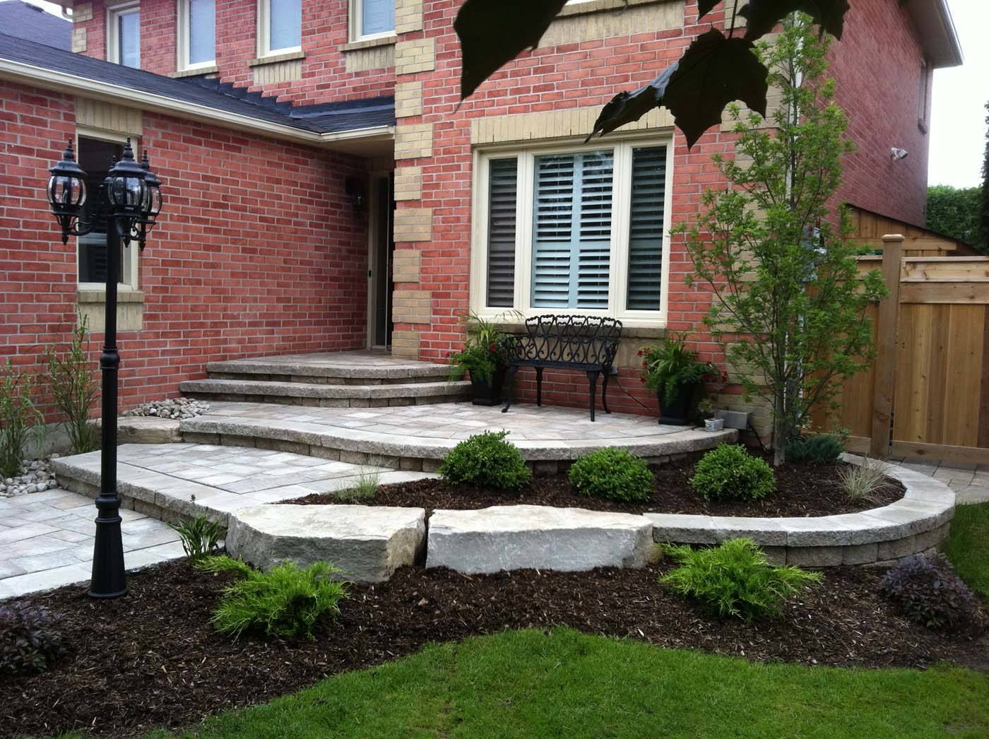 tiered front entrance